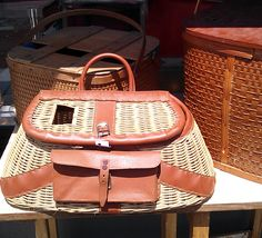 Cute baskets and other #picnic treasures at House of Vintage in Portland