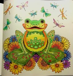 My frog - Johanna Basford -Enchanted Forest - Kim Smith