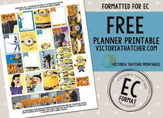 Free Printable Despicable Me 3 Planner Stickers from Victoria Thatcher