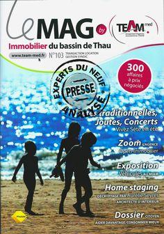 #immobilier EXPERTS DU NEUF a analysé le n°103 LE MAG THAU : 68 pages, 6 programmes neufs présentés sur 2 pages.