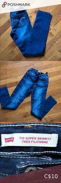 Levi's girls' jeans Size 12 710 Super Skinny Levi's girls' jeans. Adjustable waist. Worn but good condition. Levi's Bottoms Jeans Size 12 Girls, S Girls, Girls Jeans, Colored Jeans, Super Skinny, Levis Jeans, Jeans Size, Best Deals, Pants