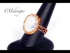 (519) Braided cabochon wirework ring - YouTube