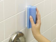 Two easy way on how to remove mold and mildew from shower tile grout. You'll be surprised how simple and easy it is. Cleaning Shower Mold, Remove Mold From Shower, Get Rid Of Mold, Shower Grout, Tile Grout, Mold And Mildew Remover, Mold In Bathroom, Shower Cleaner, Cleaning Hacks
