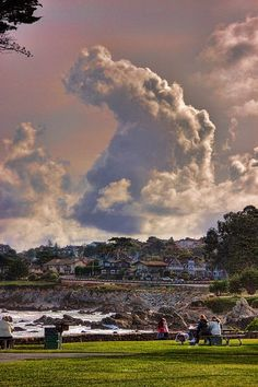 Storm clouds over Lover's Point, Pacific Grove, California
