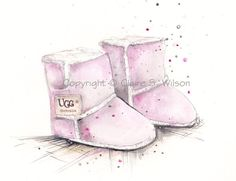 Hey, I found this really awesome Etsy listing at https://www.etsy.com/listing/166218112/pink-baby-uggs-art-print-5x7