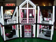 OOAK Diva Barbie Dream House Furniture Sweet 1600 Monster High Mansion TRÈS Chic | eBay