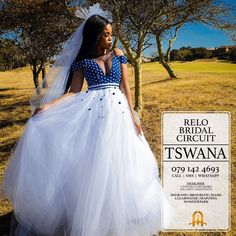 Wedding Dresses South Africa, African Wedding Theme, African Print Wedding Dress, 2nd Wedding Dresses, African Wedding Attire, South African Weddings, Zulu Traditional Wedding Dresses, South African Traditional Dresses, Blue Wedding Centerpieces