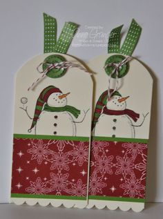 Cute tags using the Snow Much Fun stamp set
