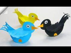 Engel aus Papier / Angel made of paper / DIY Bird Paper Craft, Paper Craft Work, Paper Birds, Bird Crafts, Paper Crafts For Kids, Foam Crafts, Preschool Crafts, Diy Paper, Diy For Kids