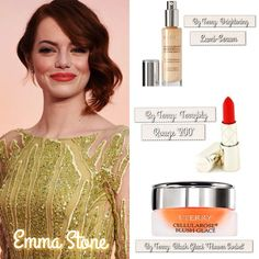 And the #Oscar goes to...Emma Stone! This bright beauty looked STUNNING on the red carpet last night!!  To achieve Emma's effortless, glowy look:  1.) By Terry - Cellulose Brightening CC Lumi Serum'3' for a luminous, bright complexion.  2.) By Terry - Terrybly Rouge '200' for Emma's peachy orange lips.  3.) By Terry - Cellulose Blush Glacé 'Flower Sorbet' for the perfect & glowy peach cheeks.  #oscars #emmastone #oscars2015 #academyawards #redcarpet #diy