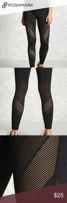 Active Paneled Leggings NWT size M Active Paneled Leggings NWT Size Medium  PRODUCT INFORMATION Details A pair of athletic stretch-knit leggings featuring a textured and sheer netted panel design, a high-rise waistband, and moisture management wicking fabric. Forever 21 Pants Leggings
