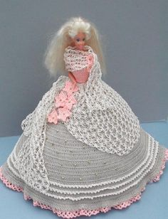 CROCHET FASHION DOLL PATTERN-#2 ANTIQUE LACE #ICSORIGINALDESIGNS