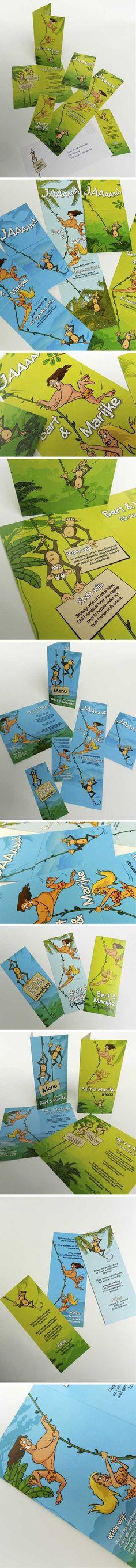 Exotisch & grappig: #trouwkaart Tarzan & Jane