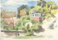 CATALINA: Schloss Johannisburg in Aschaffenburg  Pleinair watercolor on location