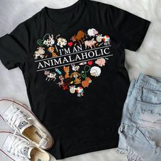 Animalaholic T Shirt This t-shirt is Made To Order, one by one printed so we can control the quality. Tech T Shirts, Vinyl Shirts, Great T Shirts, Cute Tshirts, T Shirt Diy, Dog Shirt, Vet Assistant, Shirts With Sayings, Cool Outfits