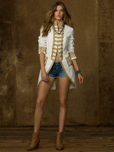 Canvas Officer's Coat - Denim & Supply Jackets & Outerwear - RalphLauren.com