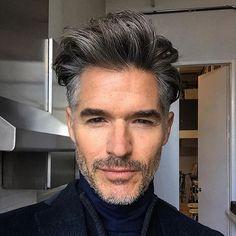 Men's tousled hair