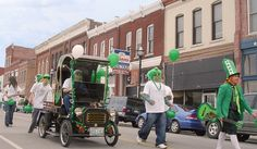 Annual St. Patrick's Day Parade and Celebration in Springfield, Missouri.