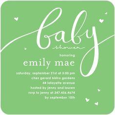 Baby Shower Invitations Little Fancy - Front : Melon