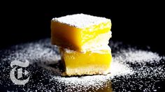 Lemon Bars With Olive Oil and Sea Salt | Melissa Clark Recipes | The New York Times | Showyou