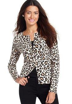 Spring '15 - August Silk long sleeve Leopard printed cardigan