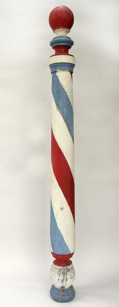Antique Painted Americana Wooden Barber Pole Trade Sign (yes I know it's not air mail / par avion, but it fits with this board!)