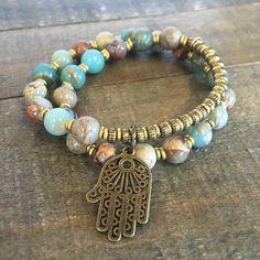 "Serpentine ""Healing and Peace"" 27 bead wrap wrist mala bracelet – Lovepray jewelry"