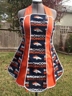 Vintage Style Apron Denver Broncos Free by FrogPrincessCostumes, $28.00