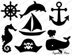 Nautiche, oceano, mare SVG, tagliare i file PNG per l