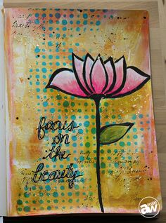 Focus On The Beauty Art Journal Page by Andrea Walford - Single Page