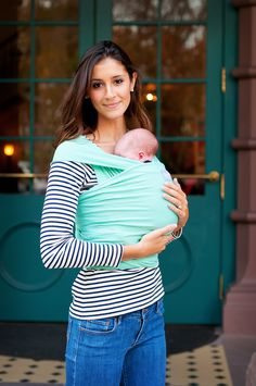 Happy Wrap - Bamboo Baby Wrap in Seafoam  #babywearing #organic