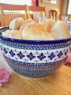 Biscuits in Polish Pottery Bowl