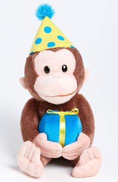 Gund 'Happy Birthday - Curious George' Stuffed Animal available at #Nordstrom