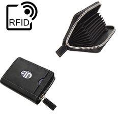 RFID Blocking Prime Hide Outback Luxury Leather Credit Card Holder Wallet In Black 2002 from Baked Apple UK