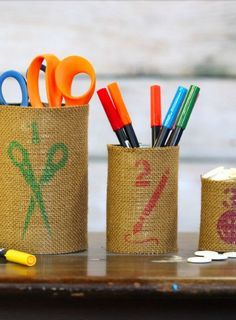 DIY desk organizers tutorial