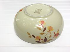 Vintage Hall's Superior Autumn Leaf Pattern Serving/Mixing Bowl by LakesideVintageShop on Etsy