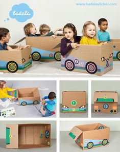 Our sticker set RACE CAR turns a big cardboard box into a fantastic vehicle for kids. Definitely not big: its price. While this car does not run with fuel, it certainly fuels the imagination of your child. badala, Sticker, Fantasie, Rollenspiel, Spaß, Schachtel, Spielzeug, Rennwagen, Formel 1, basteln, verwandeln, Karton, DIY, imagination, roleplay, fun, kids love boxes, cardboard, toy, tinker, box, boy, girl, cardboardboxes, upcycling, race car, formula 1