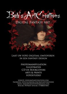 Homepage Bab'sArtCreations Digital Artist , digitale kunst op maat en fotostudio