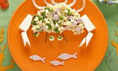 Coquillettes jambon petits pois et fromage Elbows with ham, peas and cheese Food Themes, Food Humor, Food Lists, Light Recipes, Creative Food, Food Presentation, E Design, Bento, Food Art