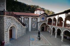 Cyprus Troodos Kykkos Monastery Courtyard