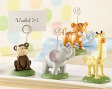 """Born To Be Wild"" Animal Place Card Holder and Photo Holders Baby Party Decorations"