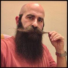 for men who love long bearded men Big Beard, Bald With Beard, Bald Men, Hairy Men, Bearded Men, Walrus Mustache, Beard No Mustache, Hot Men, Sexy Men