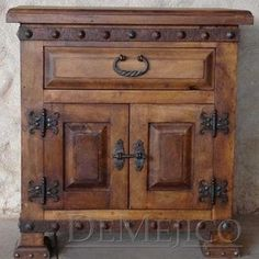 Liked idea about Spanish Furniture: Mesquite alamo nightstand custom made by Demejico Inc -  Manufactures Of Spanish Style Furniture  Doors & Lighting
