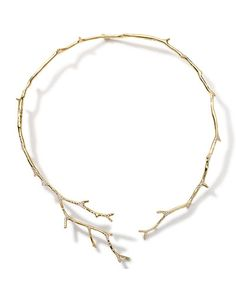 P5081 Ippolita 18k Gold Stardust Multi-Branch Necklace with Diamonds
