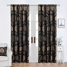 ✓ Size: There are two sizes available, 90×90 inches and 66×72 inches. ✓ Color: 8 colors are available. ✓ Material: Microfiber. ✓ Washing Instructions: Machine washable at 40° C. ✓ Included: Two panels with two back ties of the curtains are included in the Jacquard eyelet curtain. ✓ Quality: 220 GS  #eyeletcurtains #cheapcurtains #linedcurtains