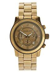 Reloj con cronómetro en acero dorado MK8227 de Michael Kors
