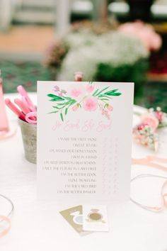 Photography : Love & Light Photographs Read More on SMP: http://www.stylemepretty.com/2016/05/31/why-flower-bars-are-the-new-it-bridal-shower-detail/