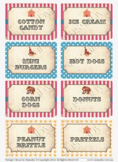 Step right Up!  It's a set of Vintage Circus Party Labels to add a festive touch to your Party that you can Print yourself! In the fun Candy colour Combo of Hot Pink, Aqua & Yellow.  The item you will receive is a set of high resolution do-it-yourself printable PDF files.  You can Print & Cut out the Templates yourself to create your own Party Labels. Print & Create as many as you want!