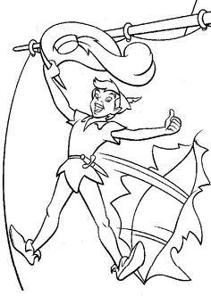 smee happy | peter pan coloring pages | pinterest | peter pans - Peter Pan Crocodile Coloring Page