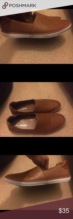 Call It Spring/Aldo Slip on Shoe Sneaker Call it Spring Brown Slip on Shoes, only worn once , almost new , excellent condition Call It Spring Shoes Loafers & Slip-Ons